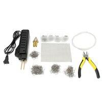 Hot Stapler Car Bumper Fender Fairing Welder Plastic Panel Repair Kit 200 Staples US Plug