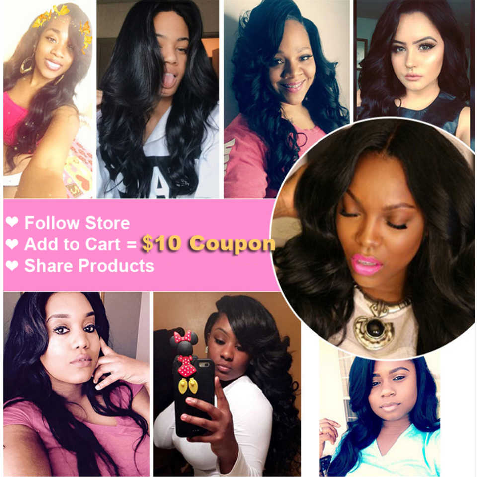 Body Wave Human hair Weave 3 Bundles With Lace Closure 2*6 Middle Part 8-28 Inch Weave Remy Hair Bundles Deal With Closure 4 Pcs
