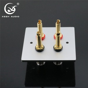 Image 5 - 1 set XSSH Audio Hi End Gold Plated Amplifier Speaker Terminal Female Long Short Version Including Binding Post and banana plug