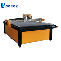 Jinan AccTek cnc oscillating knife cutter board carton box die cutting machine AKZ1625 with vacuum pump 9.0kw