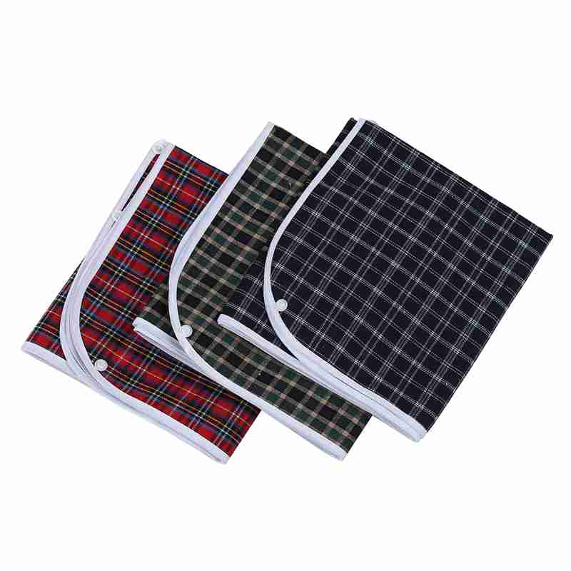 3pcs/set Waterproof Plaid Crumb Catcher Adult Bib Apron Reusable Clothes Protector Prevent Oil Juice Spill Elder Disability Wear|Aprons| |  - title=