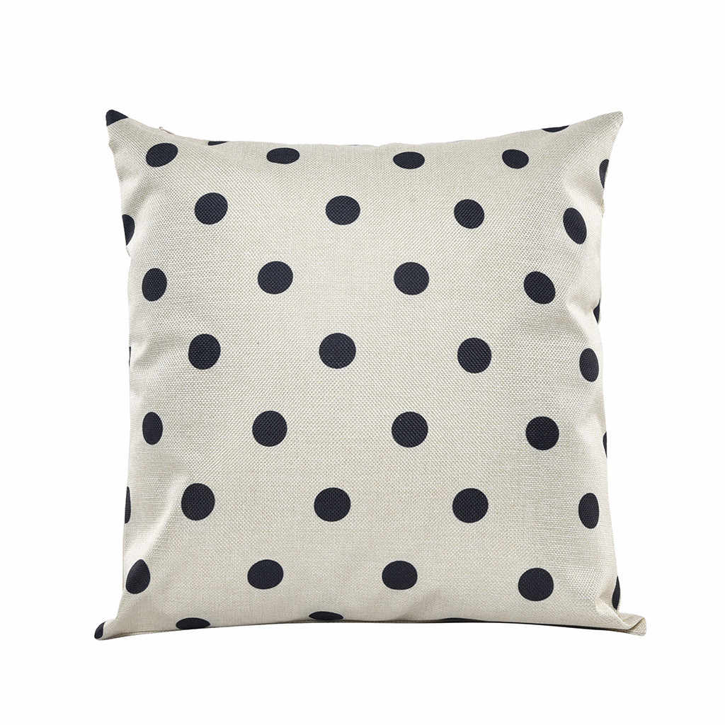 GAJJAR Cushion Cover Black And White Geometric Abstract Decorative Polyester Pillowcase Hidden Zipper Closure 45cmx45cm July18b