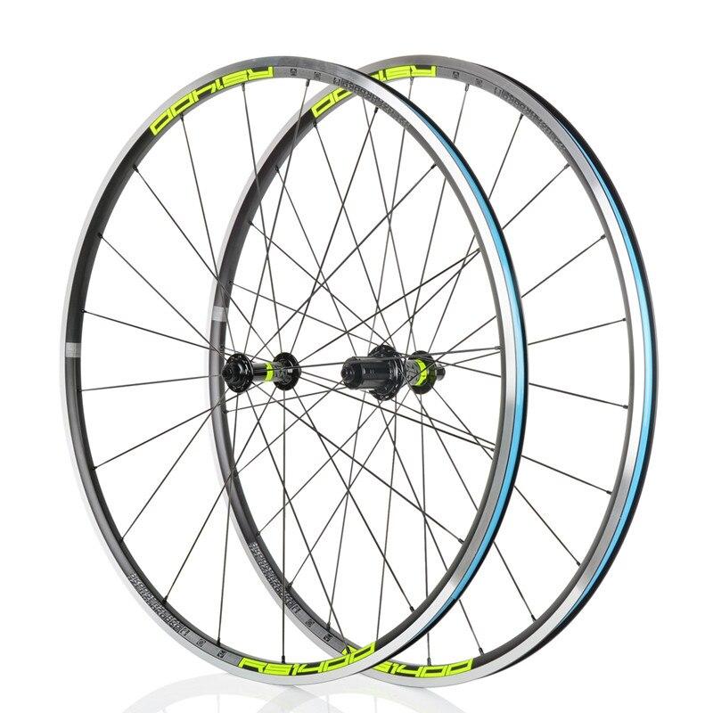 KOOZER Road Bike Wheelset 700C Front 2 Rear 4 Bearing 21MM Aluminum alloy Rim Flat spoke Wheels Ultra light Bicycle wheels(China)