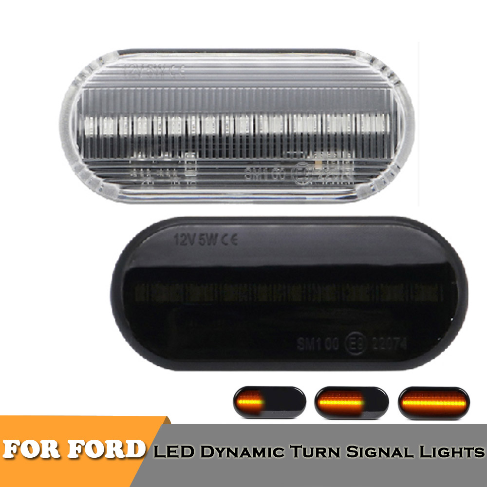 1Pair LED side marker turn signal indicator lights for <font><b>Ford</b></font> C-max <font><b>Fiesta</b></font> Focus MK2 Fusion Galaxy AUTO <font><b>ACCESSORIES</b></font> image