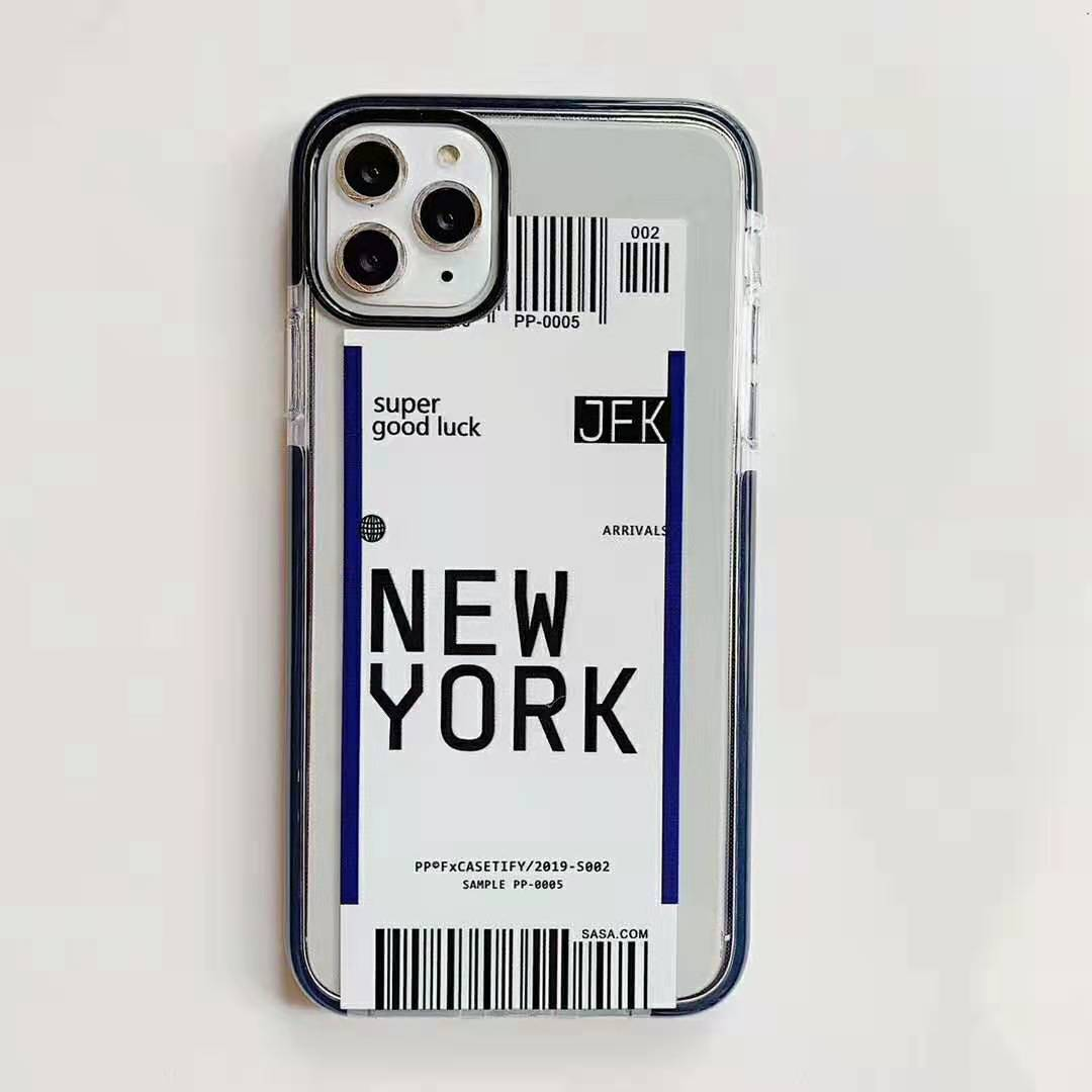 H7a9563c82d75437f93813eef9fc89d58c - Toronto New York Luxury Air Tickets Bar code Label case for iPhone 11 Pro XS Max XR 6s 7 8 Plus Los Angeles 3D Color Clear cover