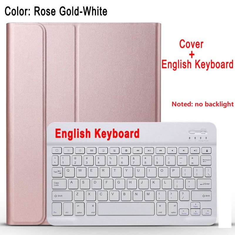 Rose with white Yellow For IPad 10 2 8 7 Generation 8th 2020 Case A2200 A2198 A2232 Slim Magnetic Bluetooth