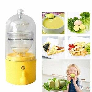 Rzuć jajko Scrambler złoty jajko Shaker mikser Scramble jajka trzepaczka wewnątrz powłoki instrukcja kuchnia gotowanie narzędzie formy do jajek nowy