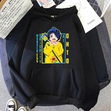 Sudaderas con capucha de Wonder Egg para mujer, ropa kawaii de dibujos animados Harajuku, Ai Ohto, Primavera