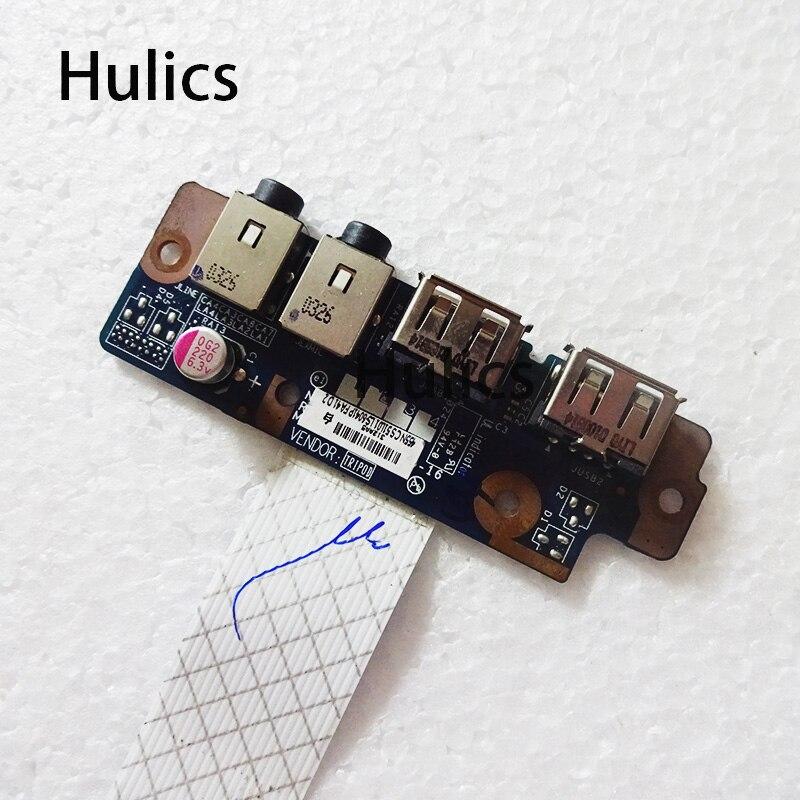 Huics original LS-6041P para toshiba satellite l670 l675 usb placa de áudio nalaa l670d l675d L675-S7015 usb genuína placa de áudio