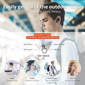 Image 3 - 1 יותר EHD9001TA פעיל רעש ביטול היברידי TWS משחקי אוזניות Bluetooth 5.0 אוזניות aptX/AAC HiFi אלחוטי טעינה