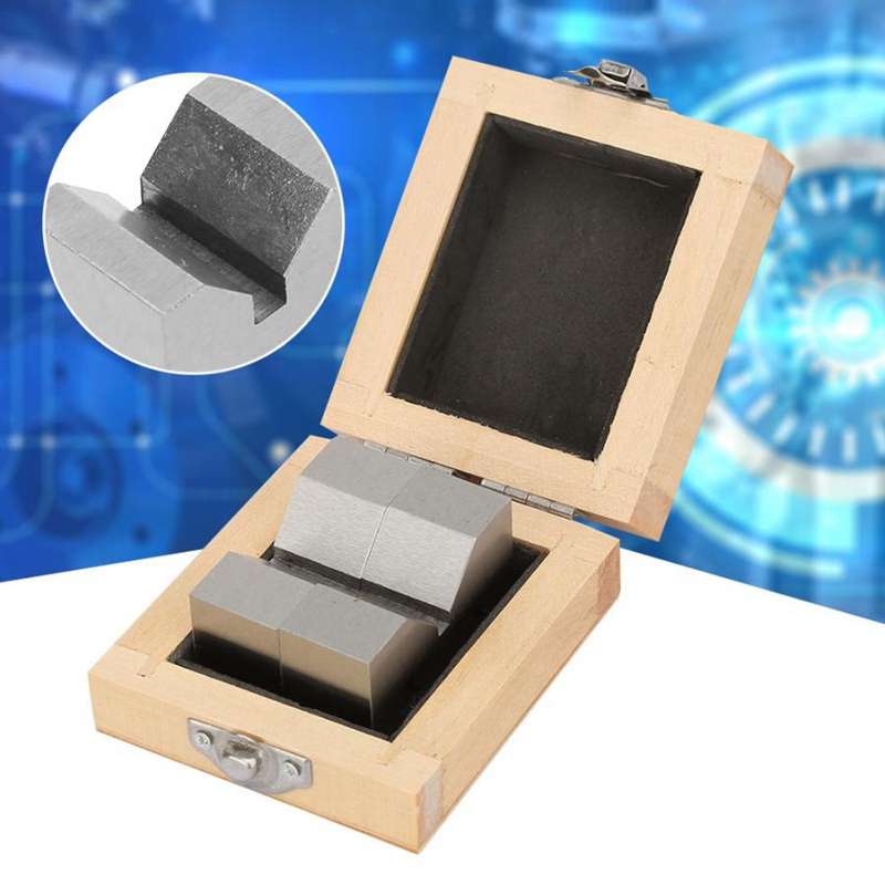 TOP 2Pcs High Accuracy Carbon Steel M Type V-Block 50mm For Platform Measurement