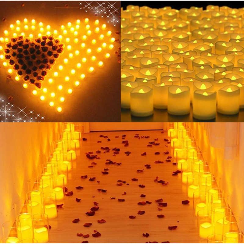 24pcs מהבהב Flameless LED תה אור הבהוב נר תה אור עבור מסיבת חתונת נרות בטיחות עיצוב הבית