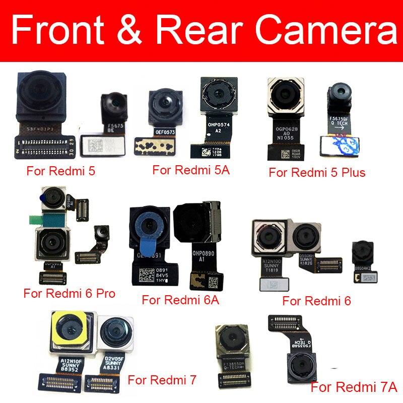 Main Camera For Xiaomi Redmi 5 5A 6 6A 7 7A Pro Plus Front & Rear Back Big Samll Facing Camera Flex Cable Replacement Parts