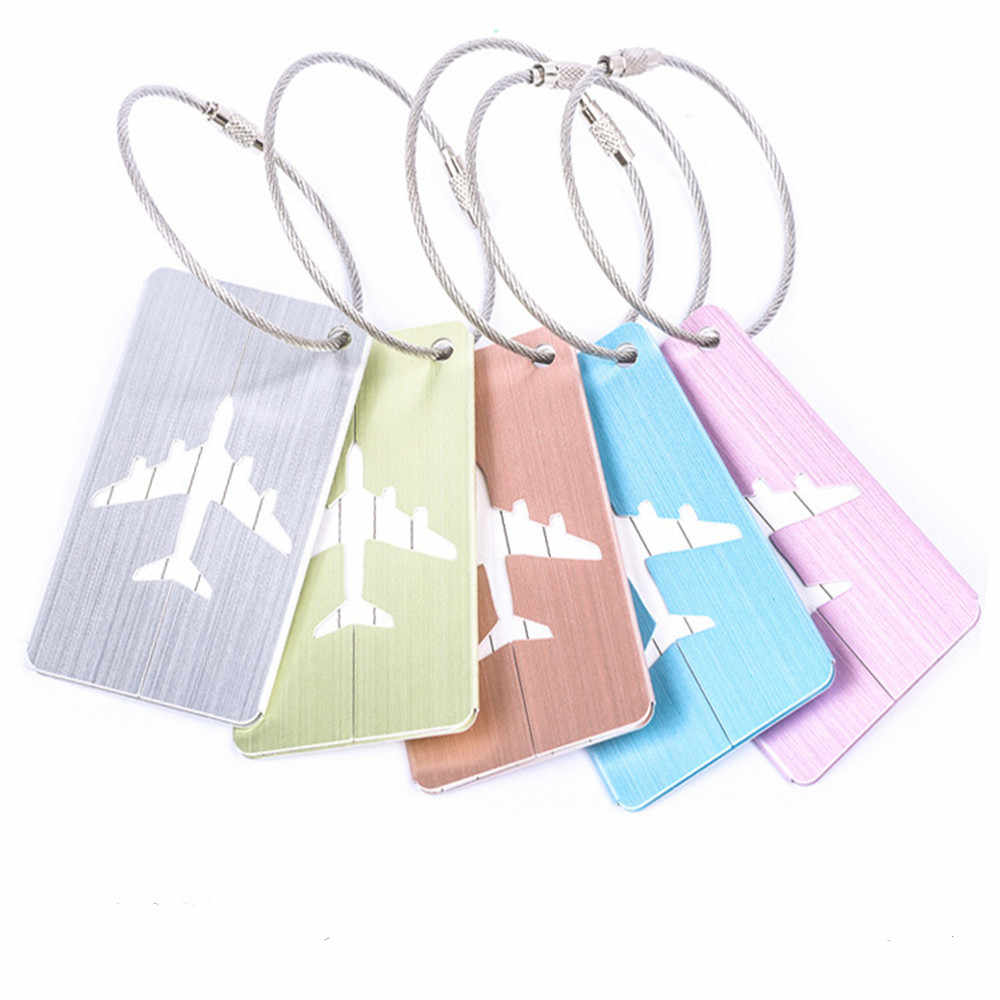 Nieuwe Legering Bagage Tags Bagage Naam Tags Koffer Adres Label Houder Label Riemen Koffer Bagage Tags Reizen Accessoires