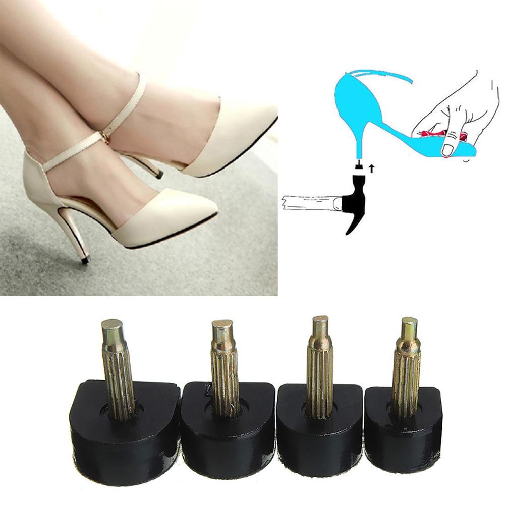 5pcs 6 Sizes Spike Women High Heel Shoes Repair Tips Matte Black Apricot Studded Studs Heel Nails Wear Mute High Heels Studs