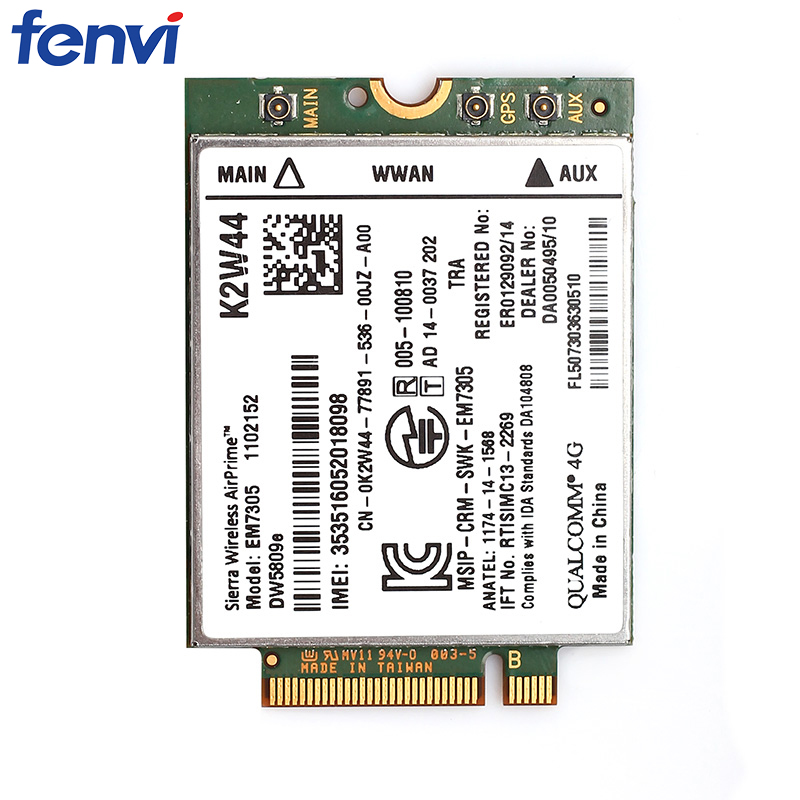 Wireless Wi-Fi Adapter For Sierra Airprime EM7305 M.2 NGFF 4G LTE WWAN Module For Dell E7450 E7250 E5550/5550 E5450/5450