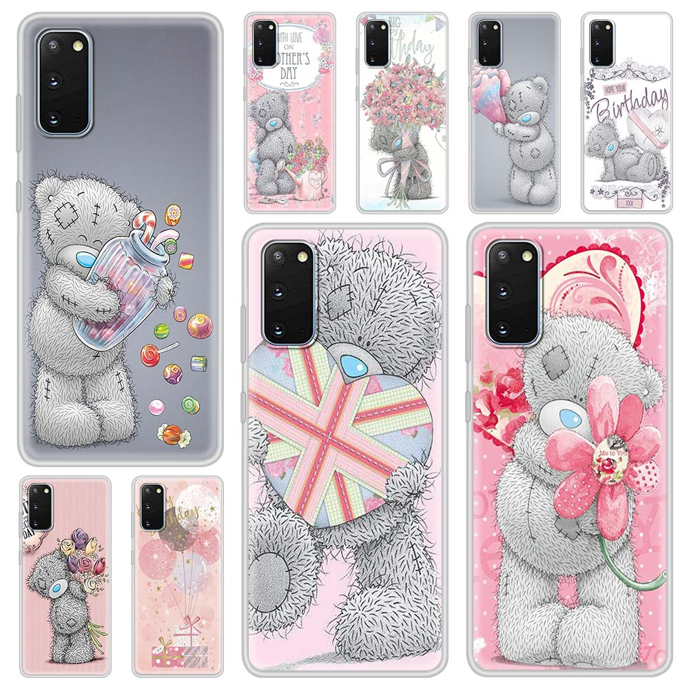 Tatty Teddy Bear Cute Case For Samsung Galaxy S21 S10 S20 FE S9 S8 Plus Note 9 10 Lite 20 Ultra Translucent Matte Phone Coque