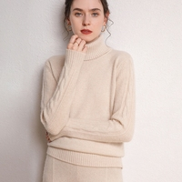 2020 New ladies mongolia cashmere sweater O collar long sleeve pure kashmir sweater christma women