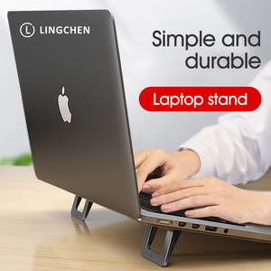 Image 1 - LINGCHEN Laptop Stand for MacBook Pro Universal Desktop Laptop Holder Mini Portable Cooling Pad Notebook Stand for Macbook Air
