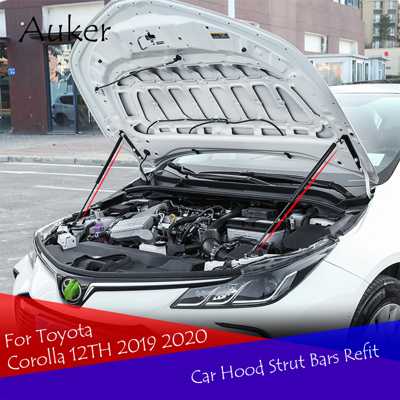 Car-styling Refit Bonnet Hood Gas Shock Lift Strut Bars Support Rod For Toyota Corolla 12TH 2019 2020