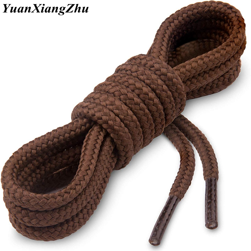 1Pair Round Boot Laces Durable Polyester Shoe Laces Solid Classic Shoelaces For Boots Sneakers Shoelace 21 Color 70 90 120 150CM
