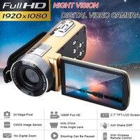 24 Million Pixels Infrared Night Vision 1080P Full HD Camcorder Video Camera 18x Digital Zoom 2.7Inch TFT LCD Screen DV Recorder