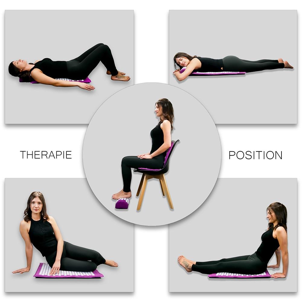 Relieve Stress Pain Yoga Massager Mat Natural Relief Stress Tension Body Massage Pillow Cushion Acupressure Mat Fitness 1ef722433d607dd9d2b8b7: China Russian Federation