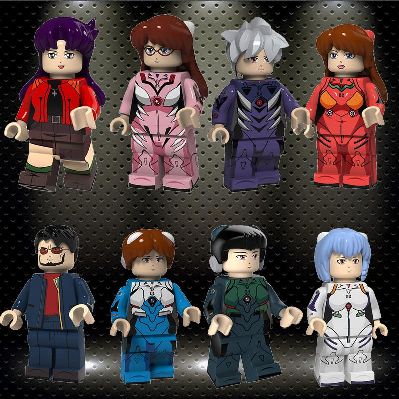 Legoed Cartoon Anime Evangelion Figure Ling Bo Li Bricks Minifigured Building Blocks For Children Toys Gift Figure PG8172