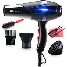 Ventilador de viaje para el hogar secador de pelo profesional de gran viento, herramientas de peinado, secador de pelo, cuidado del cabello frío/caliente D35, 100-240V