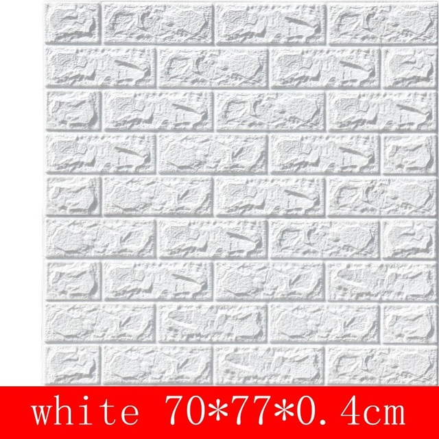 10pcs 3D Wall Stickers Imitation Brick Bedroom Decoration Waterproof Thickening Self-adhesive Wallpaper Renovation Decoration 4