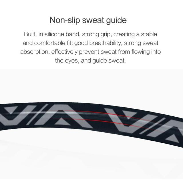 1PCS Sweat Guiding Belt Gym Headband Anti-Slip Breathable Yoga Hair Band Unisex Outdoor Running Sport Hair Band Sweatband 5