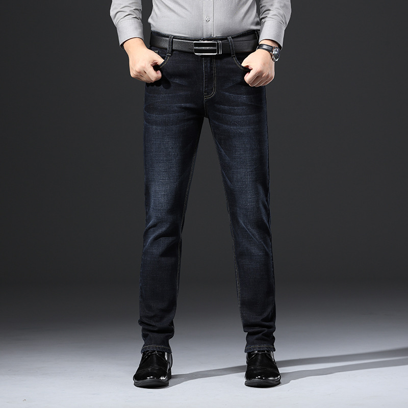 Autumn New Style Jeans Men Elasticity Business Men's Jeans Men's Trousers Straight-leg Pants 937