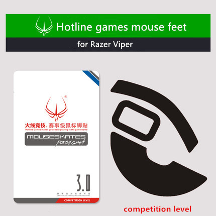 1 Pack Hotline Games Competition Level Mouse Feet Mouse Skates For Razer Viper Mouse Glides Teflon 0.7mm 0.23mm For Choice