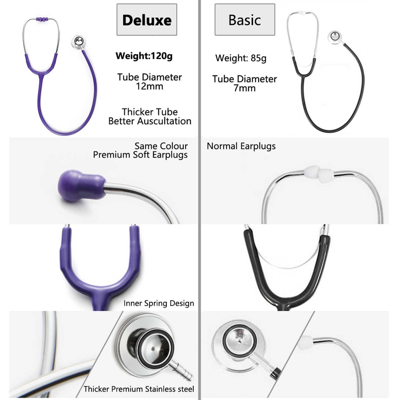 Ganda Kepala Kardiologi Stetoskop Dokter Profesional Dual Kepala Stetoskop Perawat Dokter Hewan Peralatan Medis Mahasiswa Kedokteran Perangkat