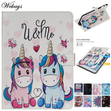 Wekays For Samsung Tab E 9.6 T560 Cartoon Smart Leather Fundas Case For Samsung Galaxy Tab E 9.6 T560 T561 SM-T560 Cover Cases
