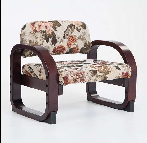 Japanese Style Wood Low Chair For Children Seat Height Adjustable Kids Furniture Wooden Study Small Children Chair Armchair