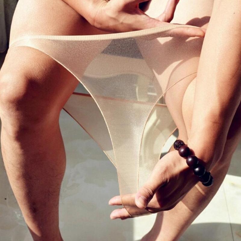 Ultra-thin Women Seamless Female Underwear Panties Traceless Sexy Sexy Oily Lingerie Briefs Black Full Personality Transpar O6W9
