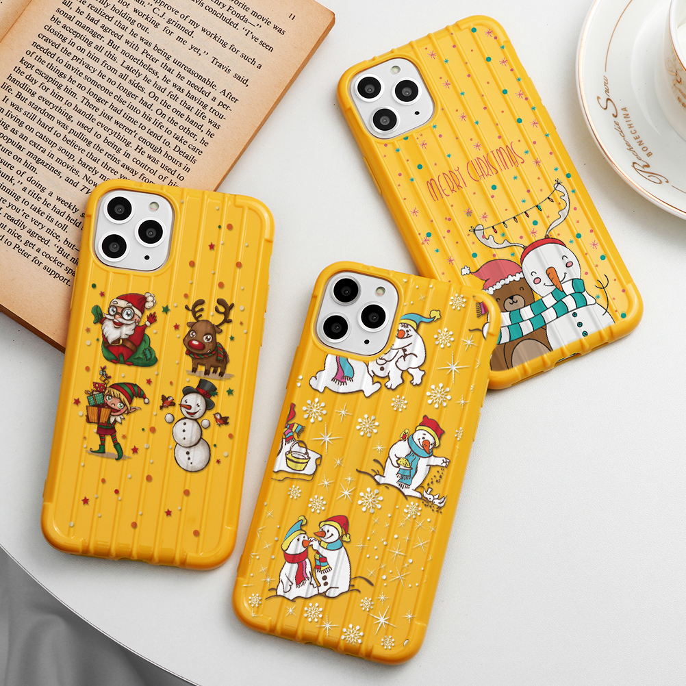 Christmas New Year Deer Trunk TPU Case For Iphone 11 Pro Max