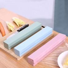 Пластиковый пищевой оберточный диспенсер для резки обертывания, дозатор для кухонных пленок для хранения консервантов, кухонные аксессуары