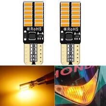 Янтарный t10 светодиодный светильник для парковки canbus nissan