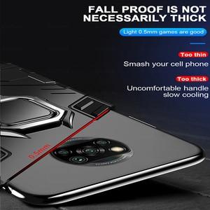 Image 5 - שריון עמיד הלם מקרה עבור Xiaomi Poco X3 פרו Pocox3 NFC Poko Pocco Pocophone X 3 Stand רכב מגנטי טבעת מחזיק קשה כיסוי Coque