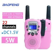 2 adet toptan çocuk Mini çocuk UHF Walkie Talkie BF T3 Baofeng FRS iki yönlü radyo Comunicador T3 kullanışlı Talkie Hf alıcı