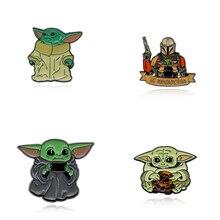 Star Wars Pin Stormtrooper Brooch Darth Vader Rebel Alliance Millennium Falcon Badge Lapel Pins Men