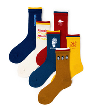 New fashion Japanese Harajuku style creative tri-color socks Soft Novelty Cotton female Autumn and winter trend 2019