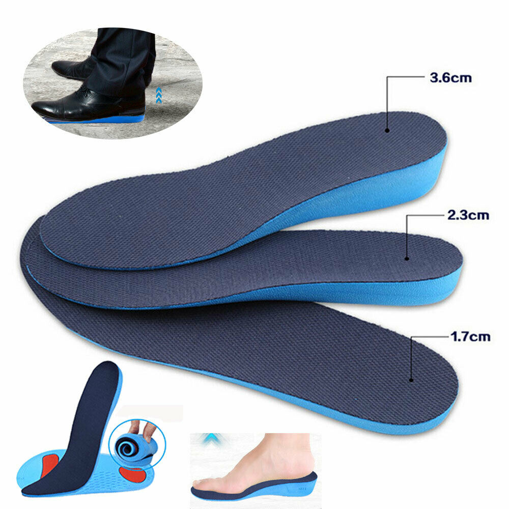 Sports Shoe Lift Unisex 2019 New Orthotic Arch Insole Height Increase Shoe Insoles Heel Inser Pad Taller  Lift Up 1.7-3.6cm