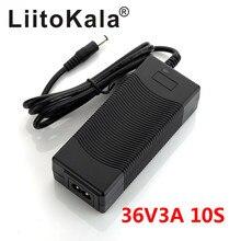 Liitokala 10s 42v 3Aバッテリー充電器10s 36 3.7vリチウムイオンバッテリー電動自転車リチウム電池充電器高品質強力な熱