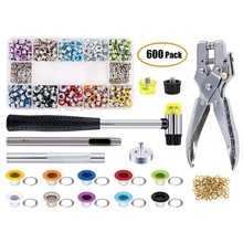 500 Sets Grommet Kit,Grommet Setting Tool Metal Eyelets Set with Install Tool Kit in Storage Box ,Leather Crafts DIY Projects