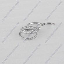 316L хирургический нержавеющей 16 г боковой набор выстроились CZ Пирсинг для носовой перегородки сегмент кольцо пирсинг для хрящевой части уха украшение для козелка ШПИЛЬКА
