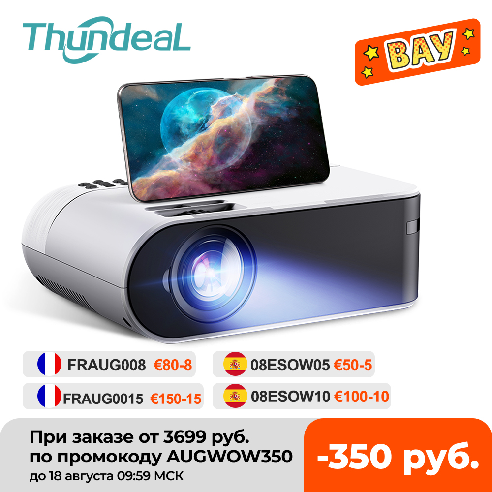 ThundeaL TD60 Mini Projector Portable WiFi Android 6.0 Home Cinema for 1080P Video Proyector 2400 Lumens Phone Video 3D Beamer|LCD Projectors| - AliExpress