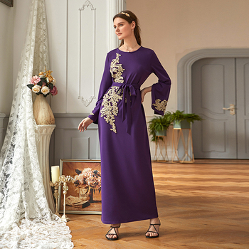 Eid Mubarak Abaya Dubai Turkey Muslim Hijab Dress Kaftan Islam Clothing Abayas Dresses For Women